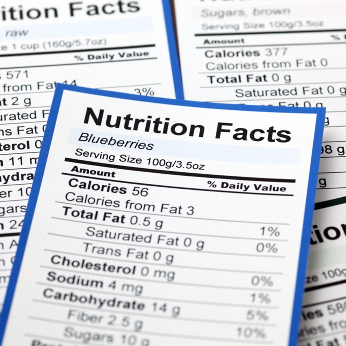 Lots of Nutrition facts. Close-up.; Shutterstock ID 222204745