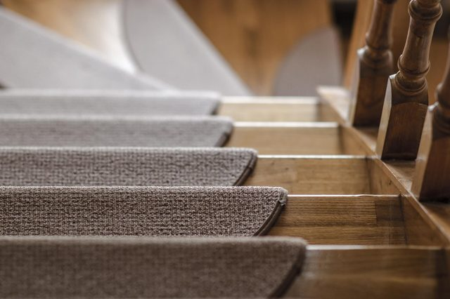wooden stairs down