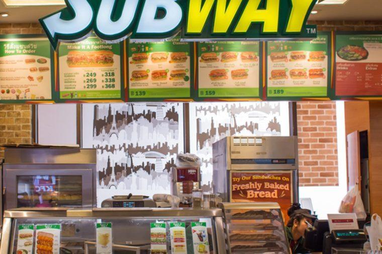 Exterior view of Subway Restaurant