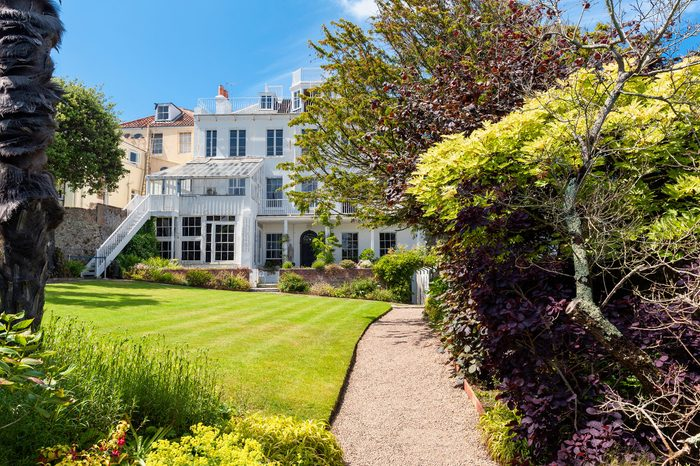SAINT PETER PORT, UNITED KINGDOM JULY 5: Hauteville House in Saint Peter Port, Guernsey, Channel Islands, UK on July 5, 2013. Famous french poet Victor Hugo used to live here in the 19th Century.