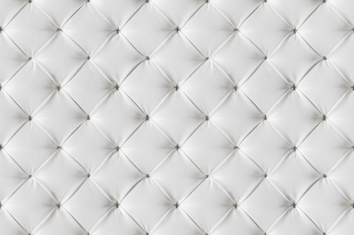 Leather Sofa Texture Seamless Background, White Leathers Upholstery Pattern