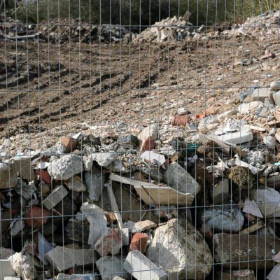 pile of bricks and building materials
