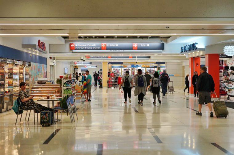 PHILADELPHIA, PA -24 MAY 2017- Inside Terminal D at the Philadelphia International Airport (PHL).