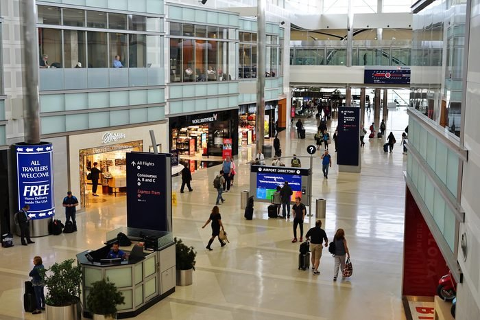 DETROIT, MI -28 MAY 2017- View of the McNamara Terminal at the Detroit Metropolitan Wayne County Metro Airport (DTW), a major airline hub for Delta Airlines (DL).
