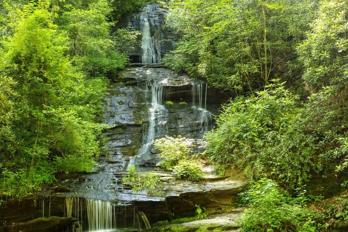 The Tom Branch Falls along Deep CreekTrail in Bryson City, North Carolina, in the Great Smoky Mountains
