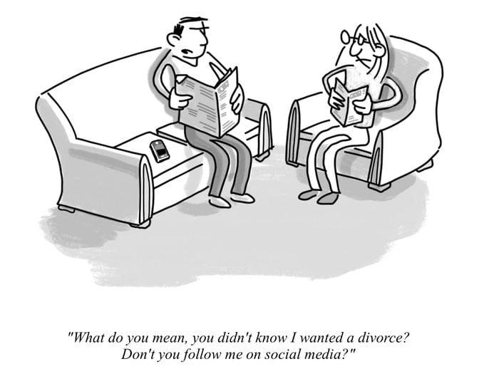 Cartoon about Divorce
