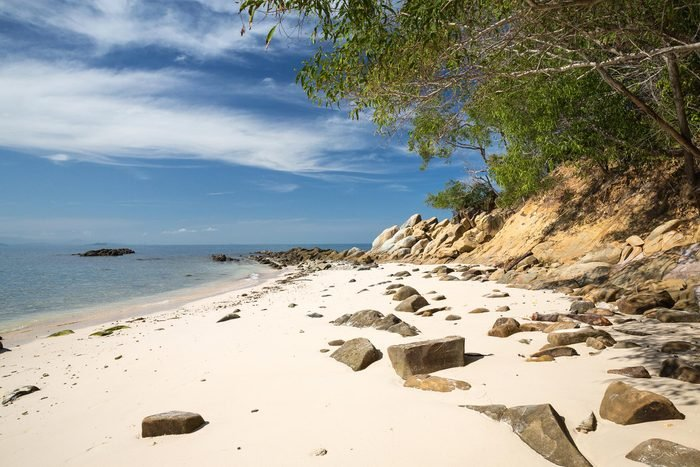 A beautiful beach in Kota Kinabalu in Malaysia