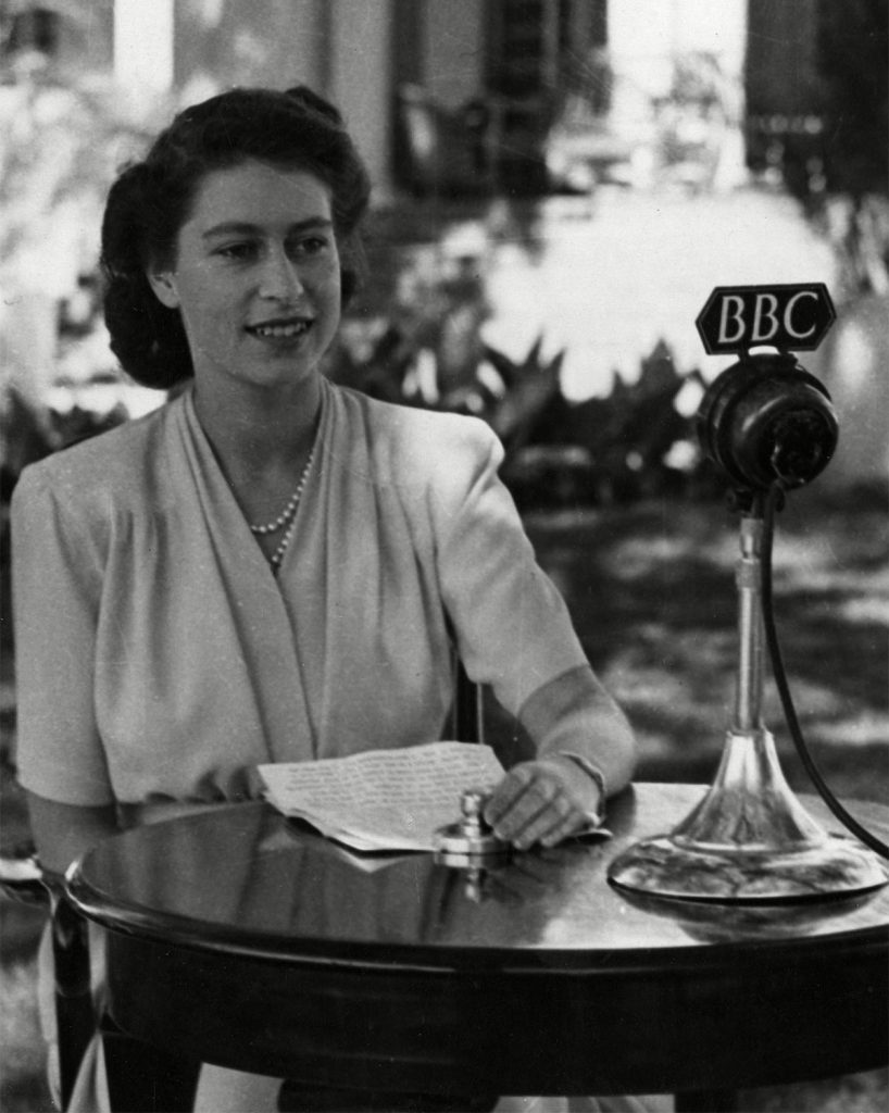 Historical Collection 170 Princess Elizabeth (queen Elizabeth Ii) at A Bbc Microphone Making Her 21st Birthday Broadcast to the Empire During the Royal Tour of South Africa On 21st April 1947 1947
