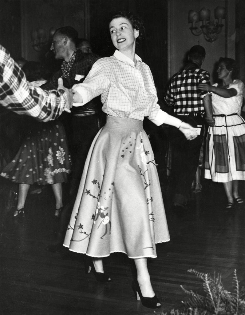 Historical Collection 170 Princess Elizabeth (queen Elizabeth Ii) Dancing A Canadian Square Dance at Government House Ottawa During He Royal Tour of 1951 1951
