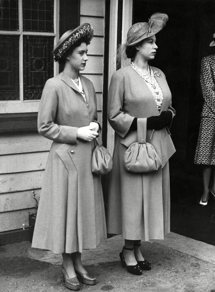 Historical Collection 170 Princess Elizabeth (queen Elizabeth Ii) and Princess Margaret Seen On Arrival at Ballater Station En Route to Balmoral For Their Annual Holiday with Other Members of the Royal Family the Future Queen is Six Months Pregnant with Her First Child Prince Charles 1948