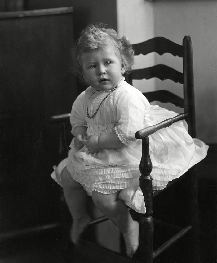Historical Collection 173 Princess Elizabeth of York (now Queen Elizabeth Ii)taken in June 1927 at the Age of 14 Months 1927