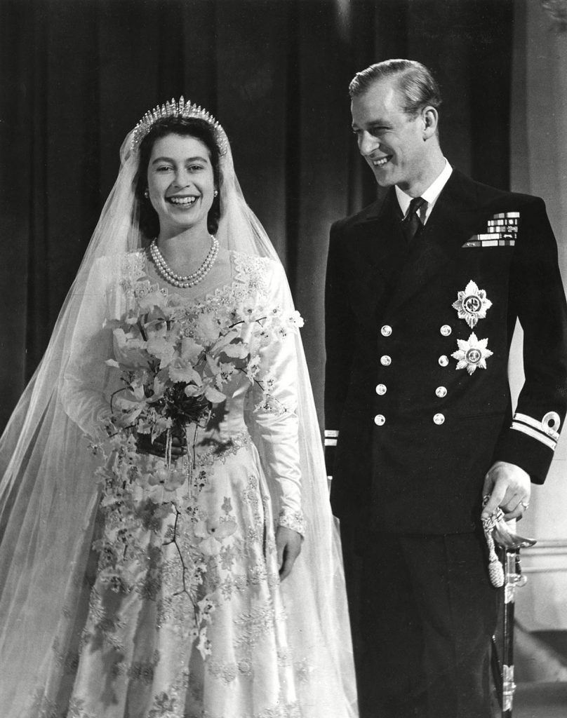 Historical Collection 174 Princess Elizabeth (queen Elizabeth Ii) and Prince Philip Duke of Edinburgh (formerly Lieutenant Philip Mountbatten) Pose Together For an Official Photograph Following Their Marriage at Westminster Abbey On 20 November 1947 1947