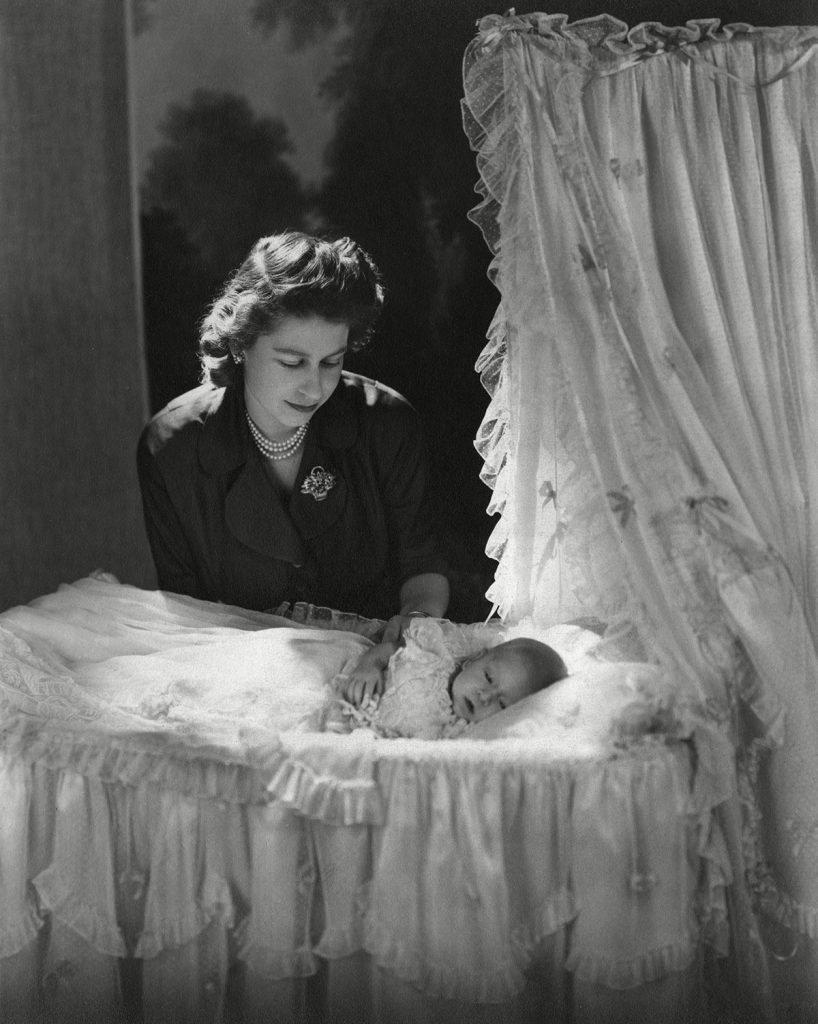 Historical Collection 174 Princess Elizabeth (queen Elizabeth Ii) Gazes Down at Her Firstborn Child Prince Charles (prince of Wales) Lying in His Cradle 1948
