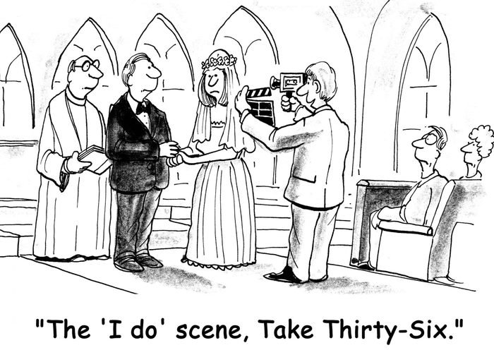 Wedding video, take thirty-six cartoon