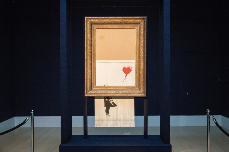 Sotheby's Unveils Banksy's 'Love is in the Bin', London, UK - 12 Oct 2018