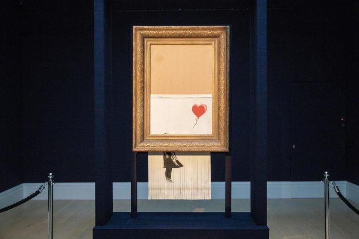 Sotheby's Unveils Banksy's 'Love is in the Bin', London, UK - 12 Oct 2018