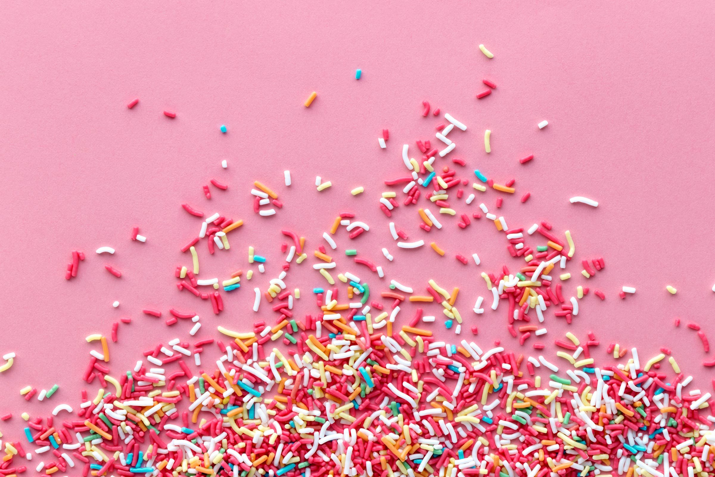 sprinkles pink background
