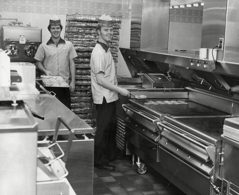 Staff Working In The Kitchen Of Mcdonalds Restaurant In Woolwich - 1974