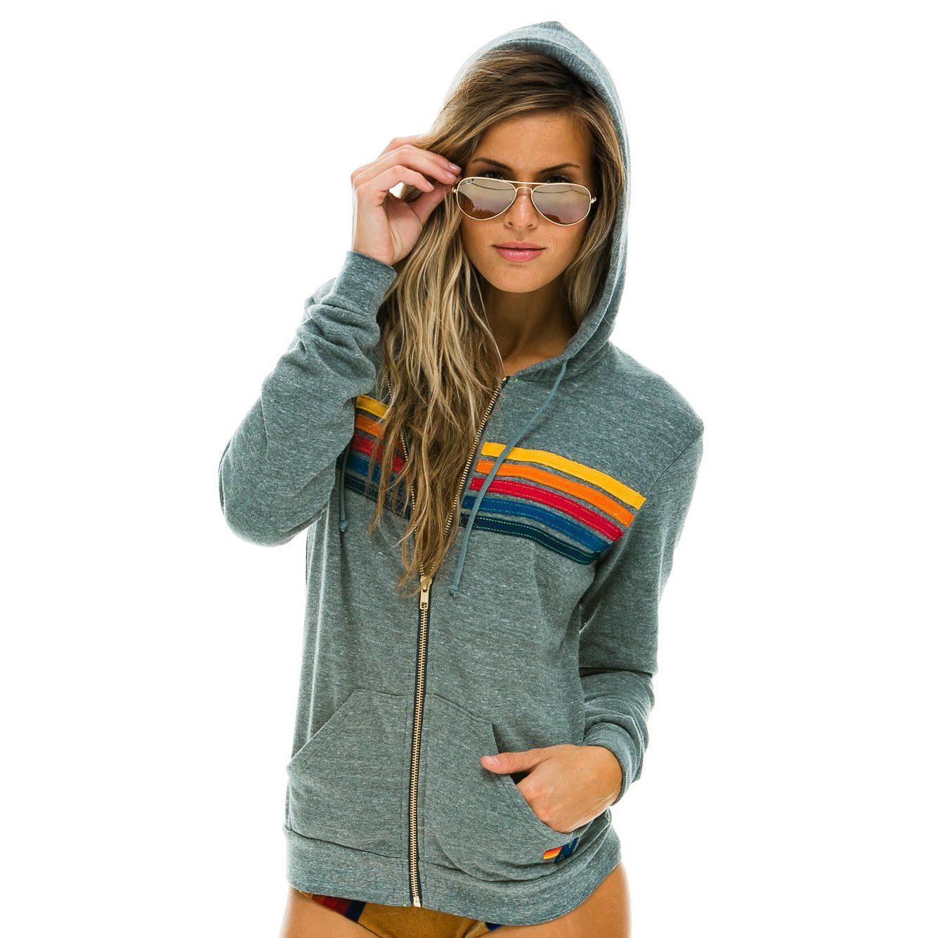 retro zip-up hoodie