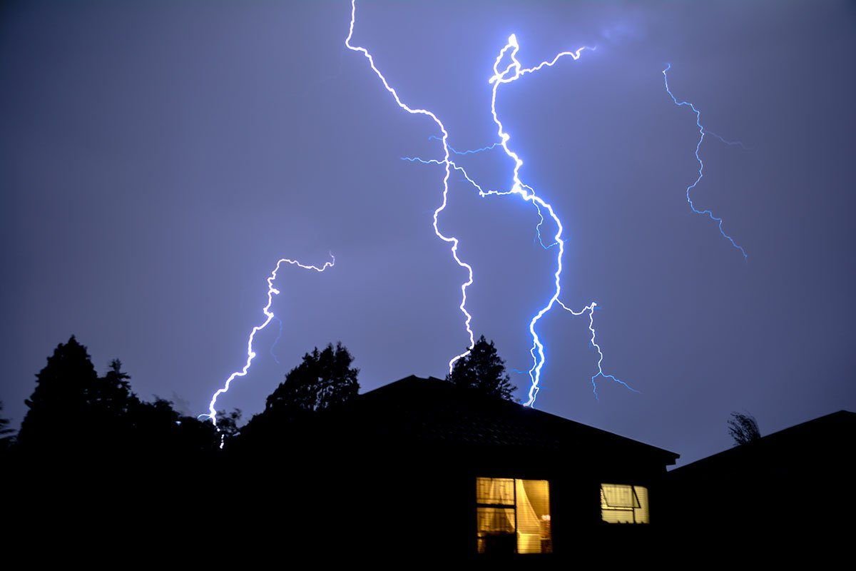 Cloud to Ground Urban Lightning