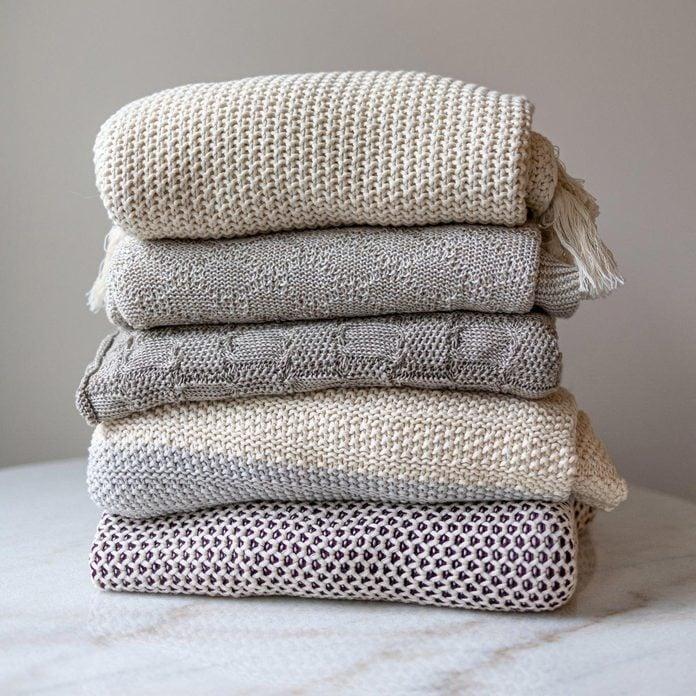 Yaya & Co. Hallen Organic Cotton Knit Throw Blanket