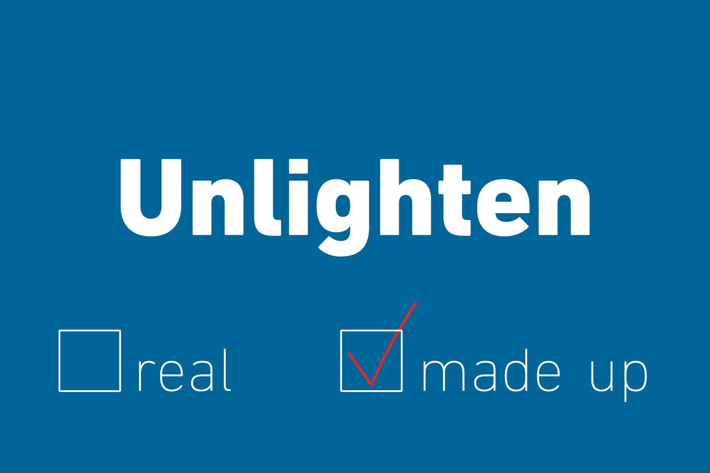 unlighten made up