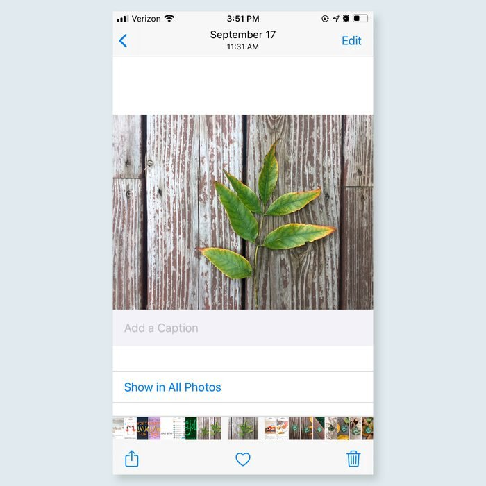 iphone trick - Add captions to photos and videos