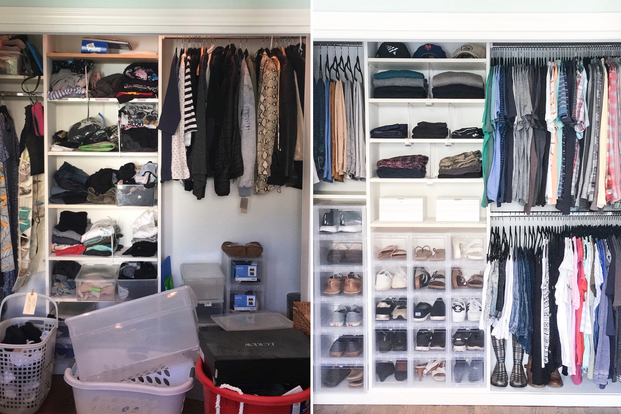 closet home organization makeover