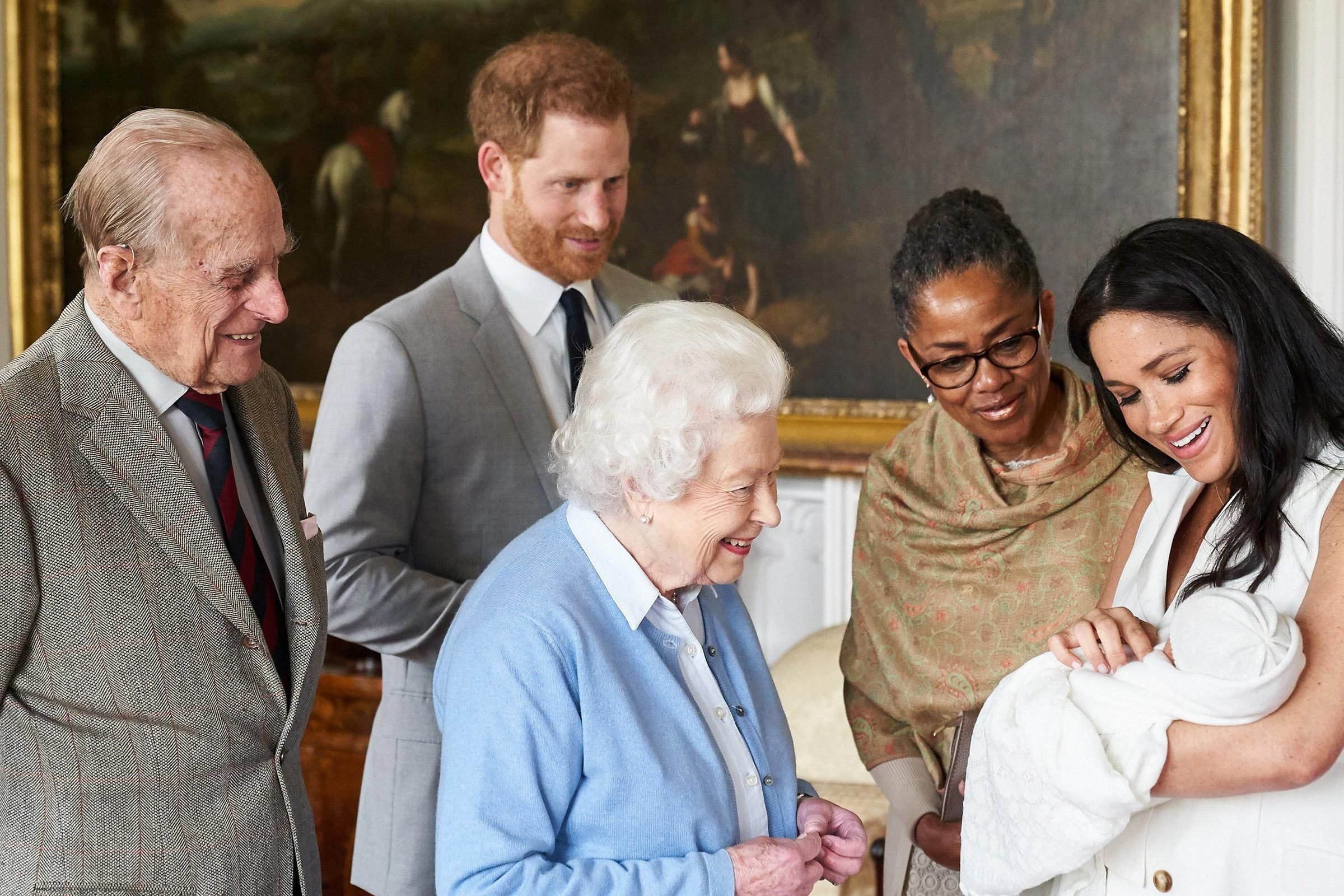prince harry meghan markle archie queen elizabeth royal family