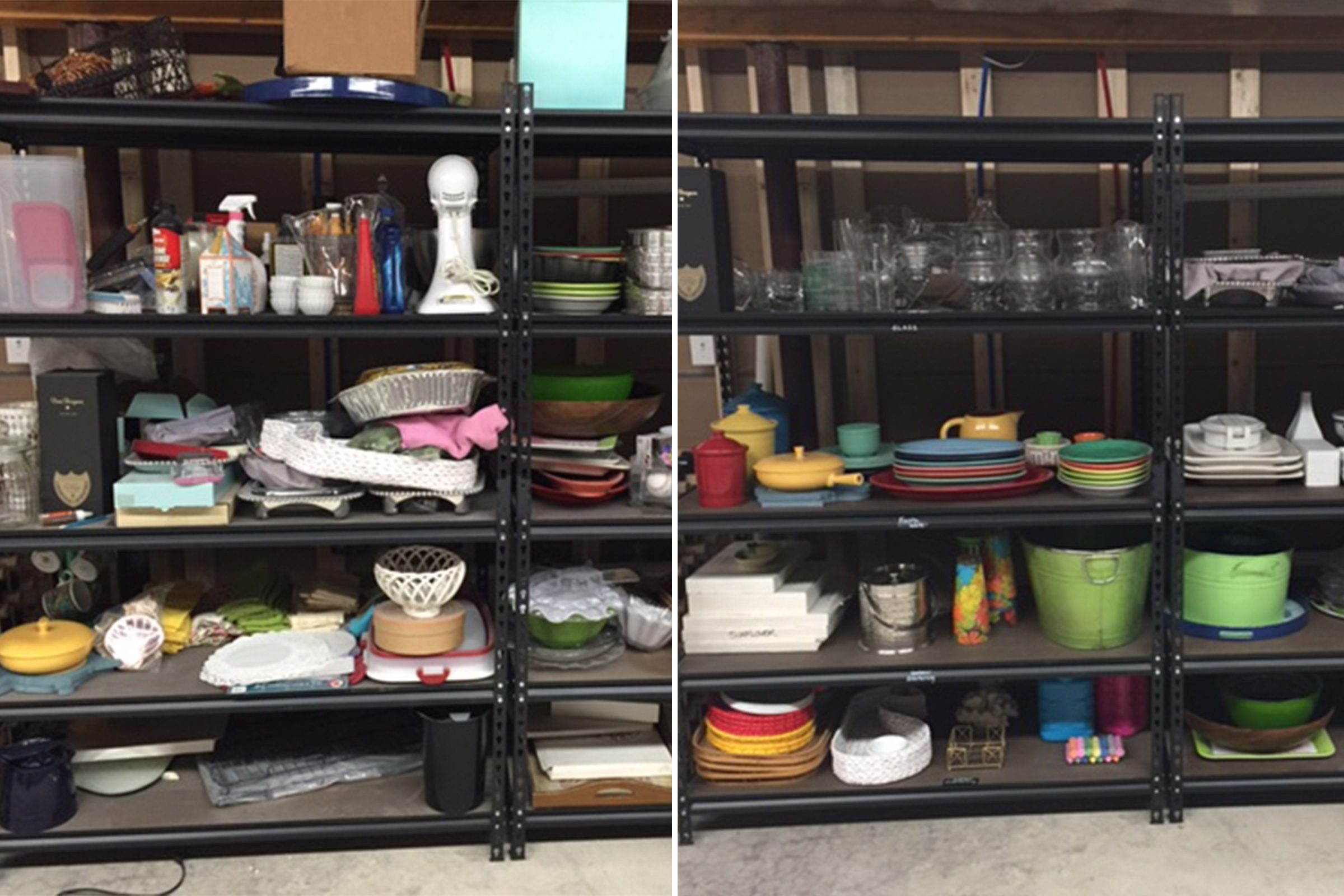 shelving home organization makeover