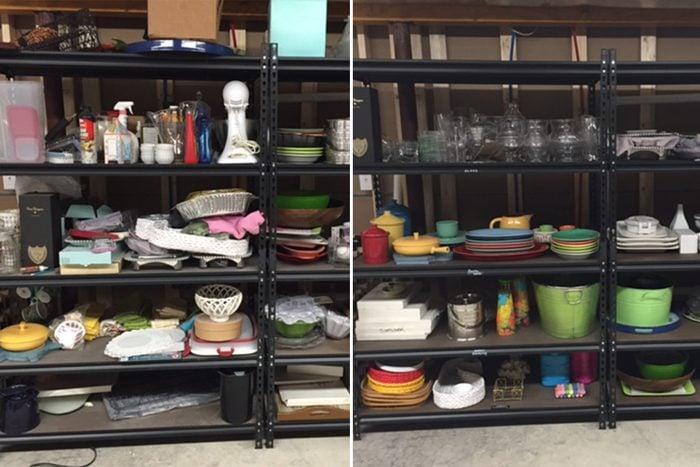 shelving home organization makeover