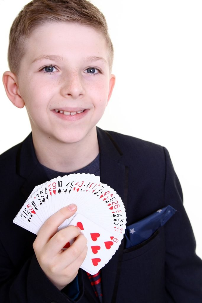 10-year-old is Britain's youngest magician, Manchester, Britain - Jan 2014