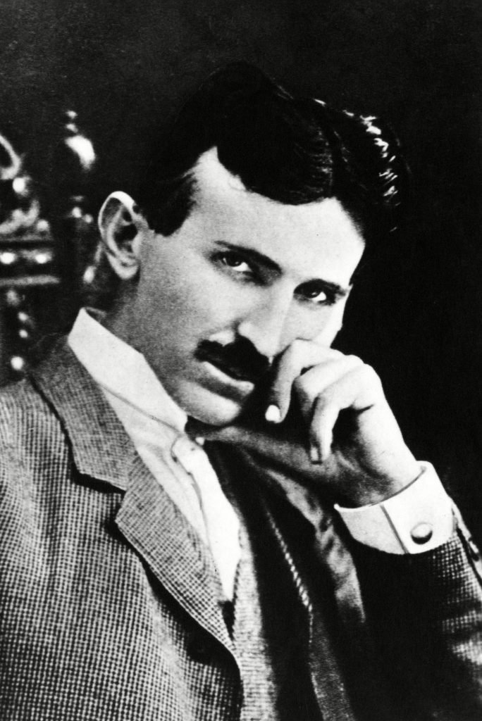 Nikola Tesla, physicist, engineer and inventor of alternating current power, 1890s