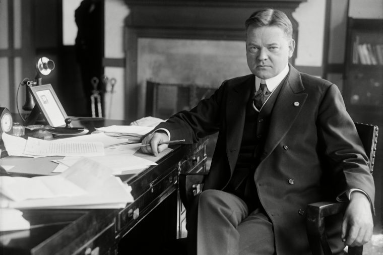 Future President Herbert Hoover as Head of the Food Administration during World War 1. 1918.