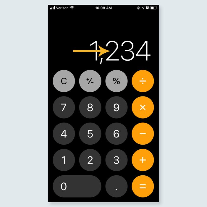iphone tricks - Backspace on the calculator app