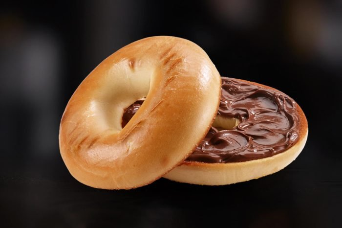 Plain Bagel with Nutella
