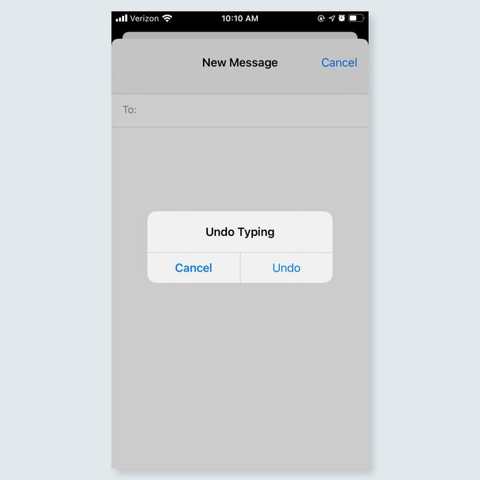 iphone tricks - Erase text with a shake of your hand