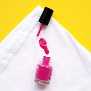 how to get nailpolish stains out of anything