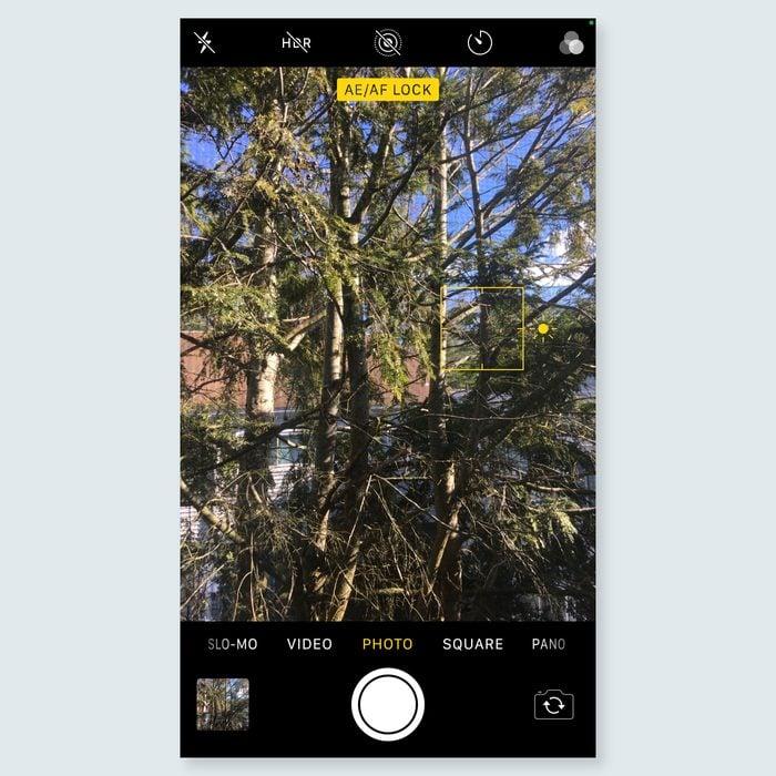 iphone tricks - lock the camera's focus and exposure