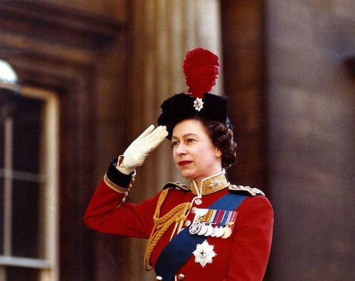 1969 Queen Elizabeth II during the trooping of the colour
