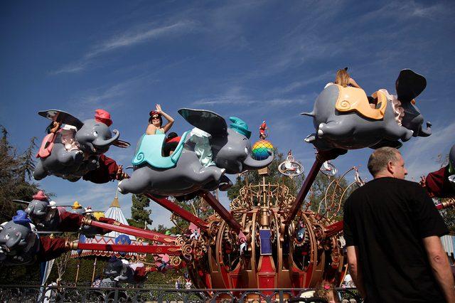 Dumbo the Flying Elephant ride at Disneyland