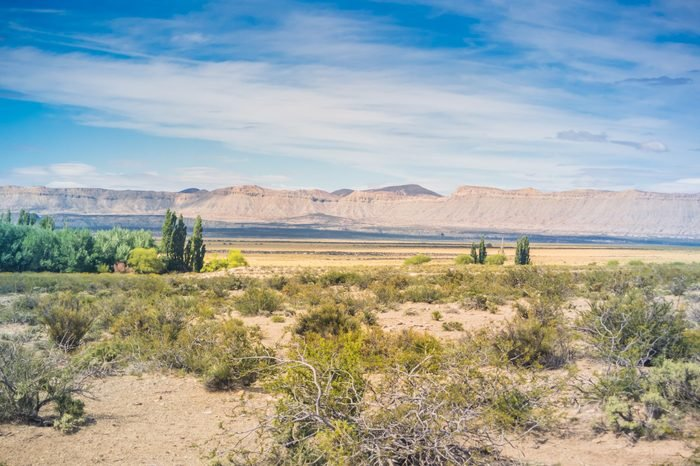 Landscape at Neuquen, Argentina.