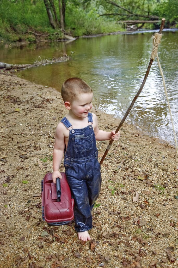 oldest son on fishing trip