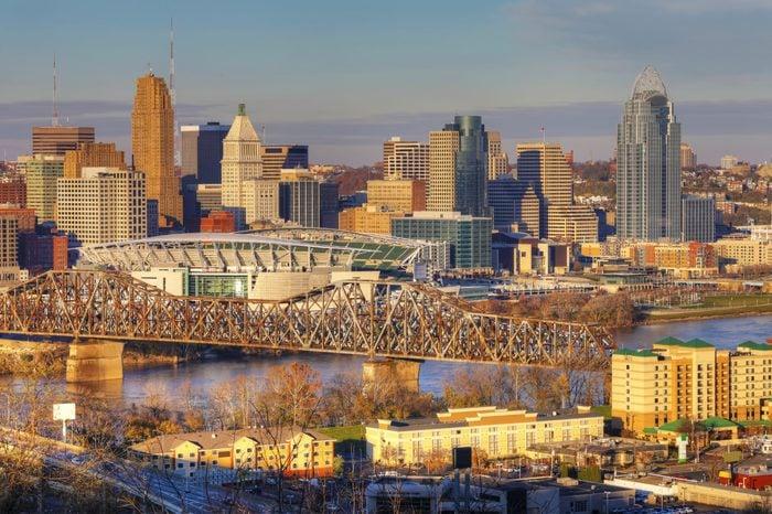 A View of the Cincinnati skyline