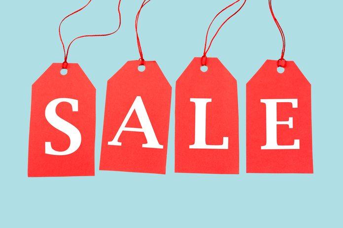 Sale Tags, seasonal sales