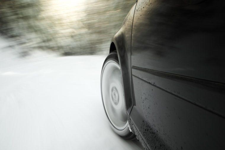 car skidding