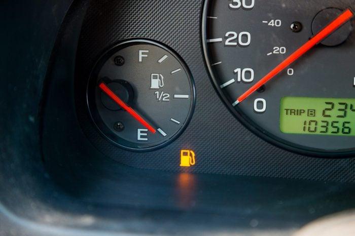 empty gas tank gas guage
