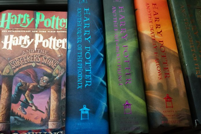 A collection of Harry Potter books