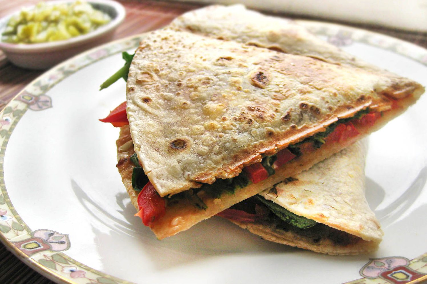 GF vegan quesadillas