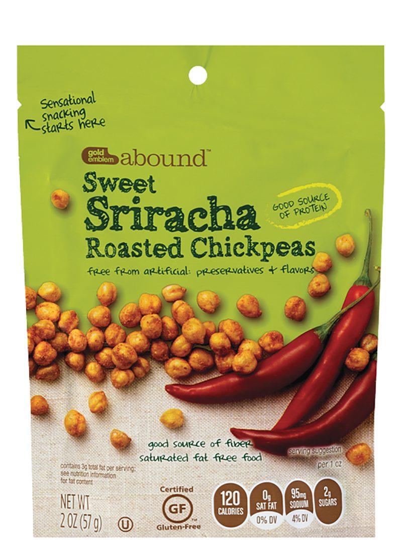 Sweet Sriracha Roasted Chickpeas